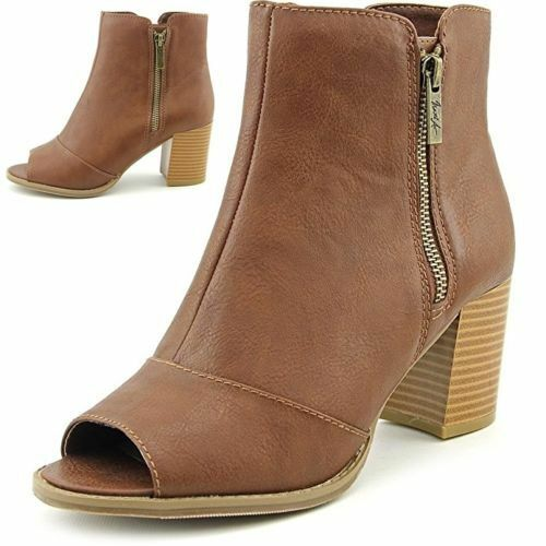 Mari A. Axle Booties Schuhes Smooth Leder Booties Cognac  7.5M