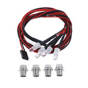 4-LED-5mm-White-Color-Red-Color-LED-Light-Set-for-HSP-RC-Cars-TB-TEUSUNHWC