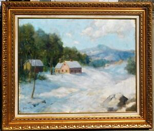 Charles-E-Buckler-b-1869-MA-artist-oil-canvas-24-x-30