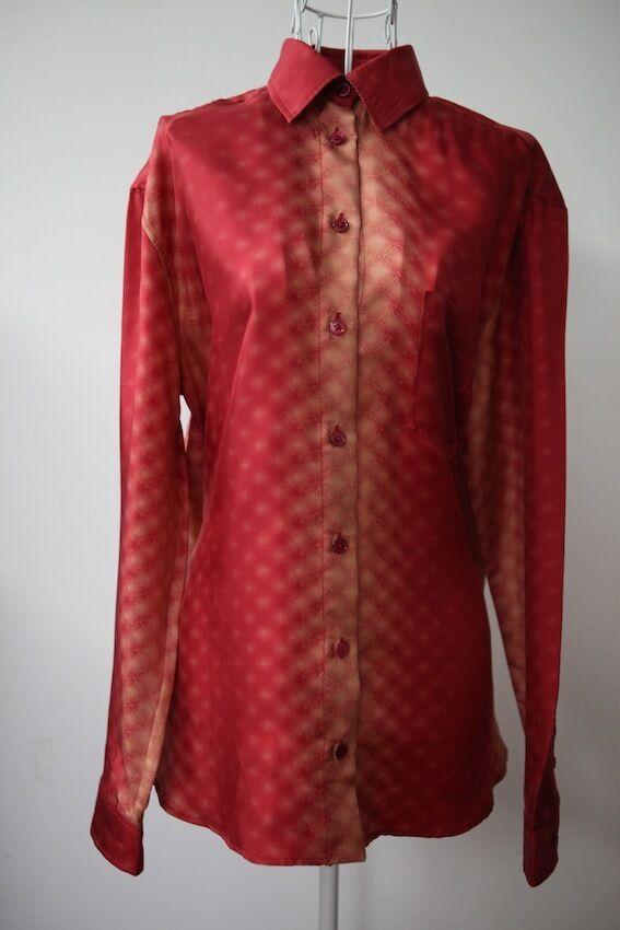 NWT Jean Paul Gaultier damen Silk Shirt rot 38  RRP