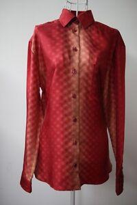NWT-Jean-Paul-Gaultier-women-Silk-Shirt-RED-38-RRP-1830