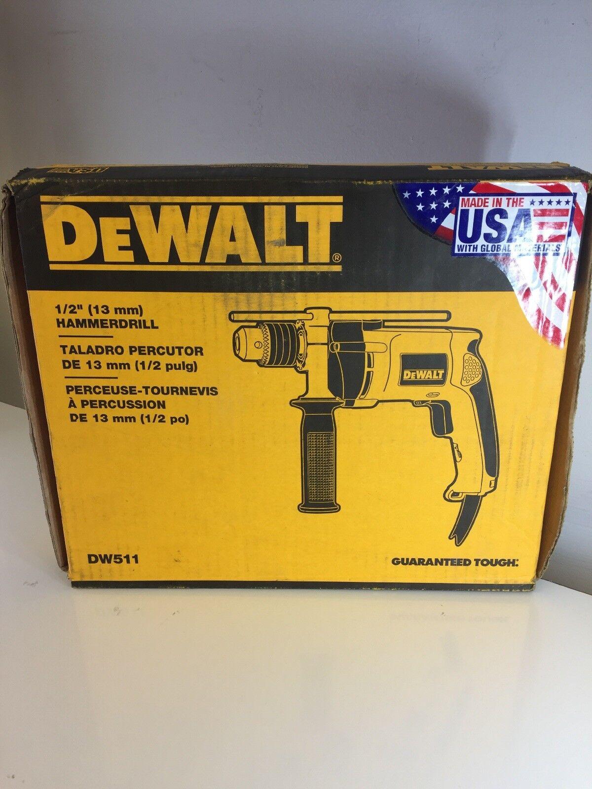 DeWalt DW511 1 2  (13mm) Corded Hammer Drill - FREE SHIPPING