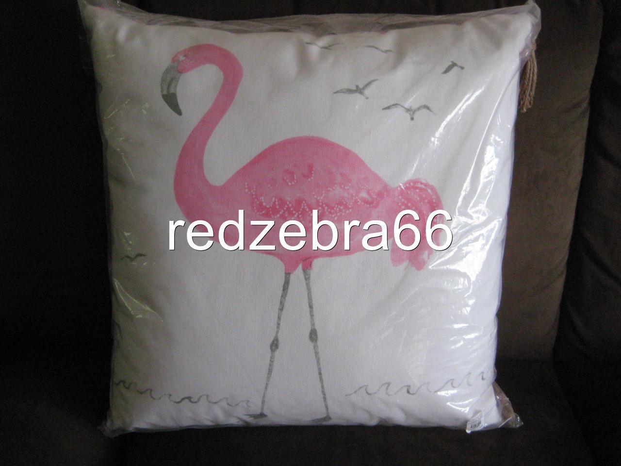 Pottery Barn Kids rose WaterCouleur Flamingo Decorative Pillow 2-0  x 20  NWT