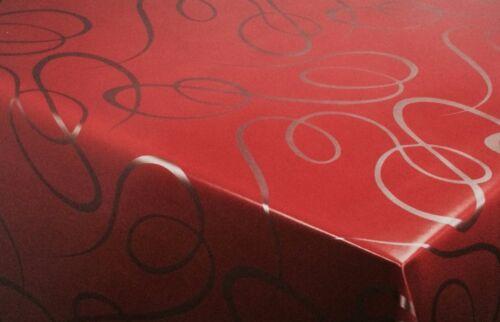 Nappe toile cirée Angulaire Rond Ovale Lavable Lignes Rouge K150134