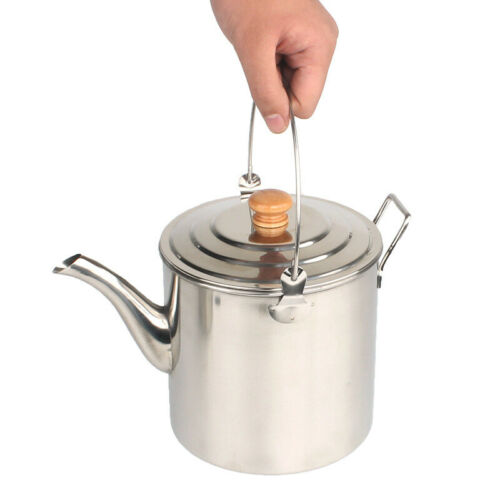 Outdoor Kettle Camping Cooker Hiking Stainless steel Large Capacity Useful
