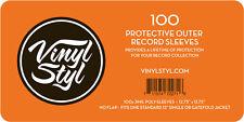 Vinyl Styl 12.75x12.75 3mil Poly Slv 100ct Vsp006 Bag/Sleeve