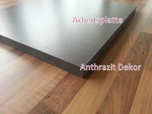 Arbeitsplatte Küchenarbeitsplatte 28mm Anthrazit Dekor 60cm lang 60cm tief
