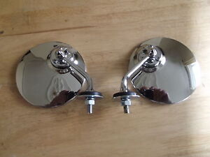 A-BRAND-NEW-PAIR-OF-POLISHED-STAINLESS-STEEL-WING-MIRRORS-FOR-CLASSIC-CARS