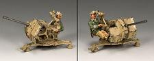 KING AND COUNTRY AFRIKA KORPS 2cm Flak 38 Gun Set AK95 AK095