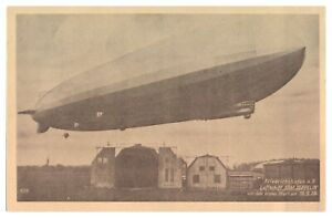 Antique-WW1-military-German-printed-postcard-Luftschuff-Graf-Zeppelin