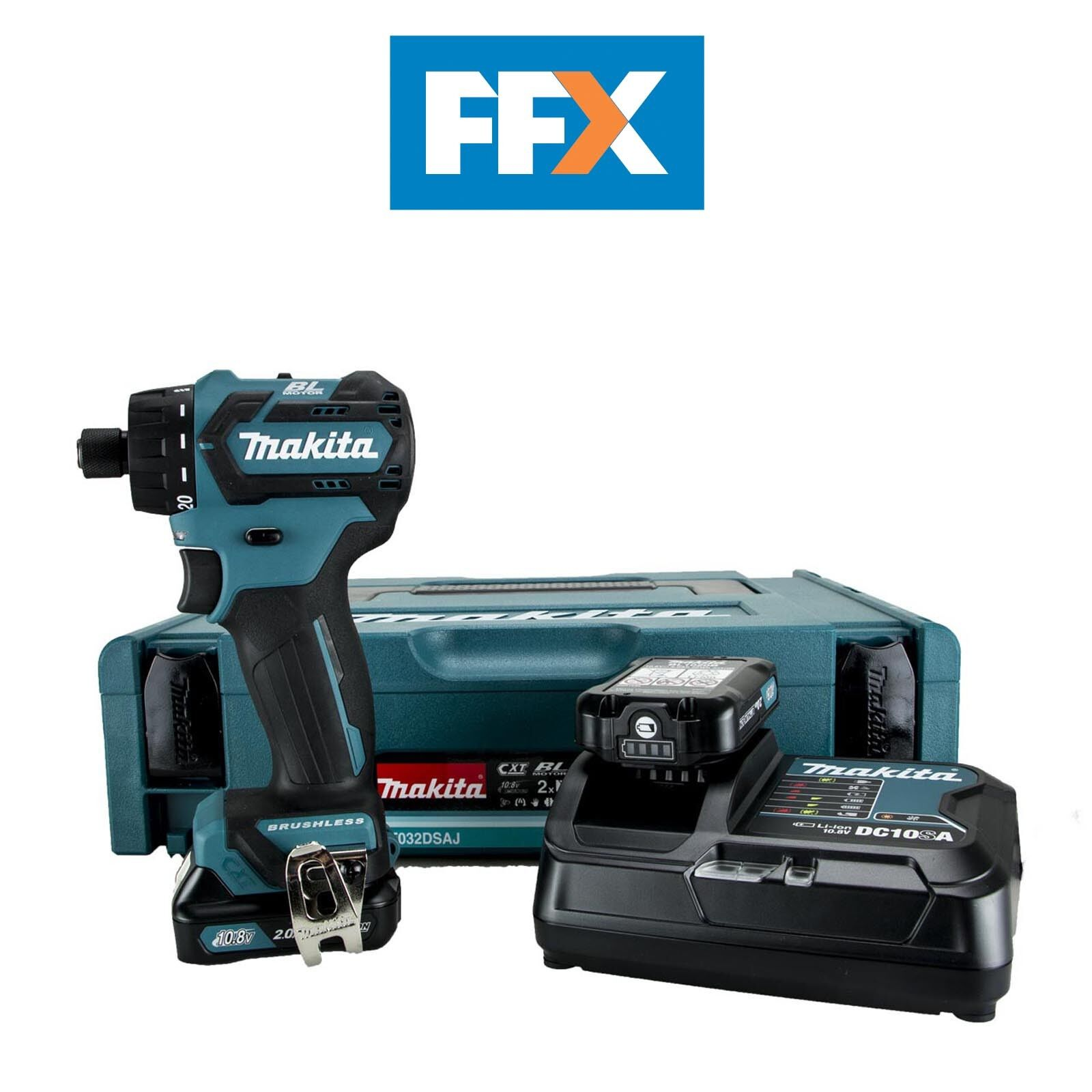Makita DF032DSAJ 10.8V CXT 2x2.0Ah Drill Driver Makpac Kit