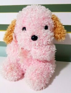 All-Be-Mine-Pink-Cute-Plush-Toy-Dog-with-Bow-20cm-Tall