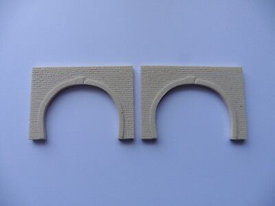 Gentile Z Gauge Pair Of Double Tunnel Portals (unpainted Plastic Resin)