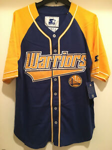 8526bee6064 Image is loading Golden-State-Warriors-Baseball-Jersey-by-STARTER-THE-