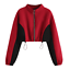 Fashion-Women-Crew-Neck-Sweatshirt-Zipper-Long-Sleeve-Crop-Tops-Jumper-Outwear thumbnail 14