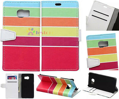 Rainbow Luxury Flip Wallet Card Leather Case For Alcatel OnePlus series 1 2 SF