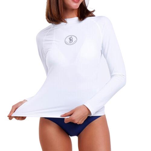 Women/'s Long Sleeve Rash Guard UV Sun Protection UPF 40 Shirt Bikini Swimwear O
