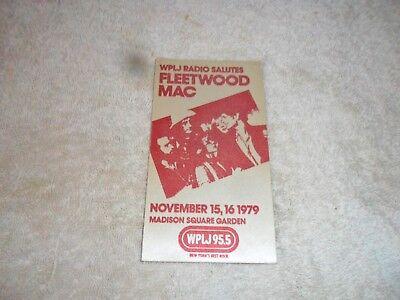 Well-Educated Sticker Fleetwood Mac Nov 15,16 1979 Ny Entertainment Memorabilia