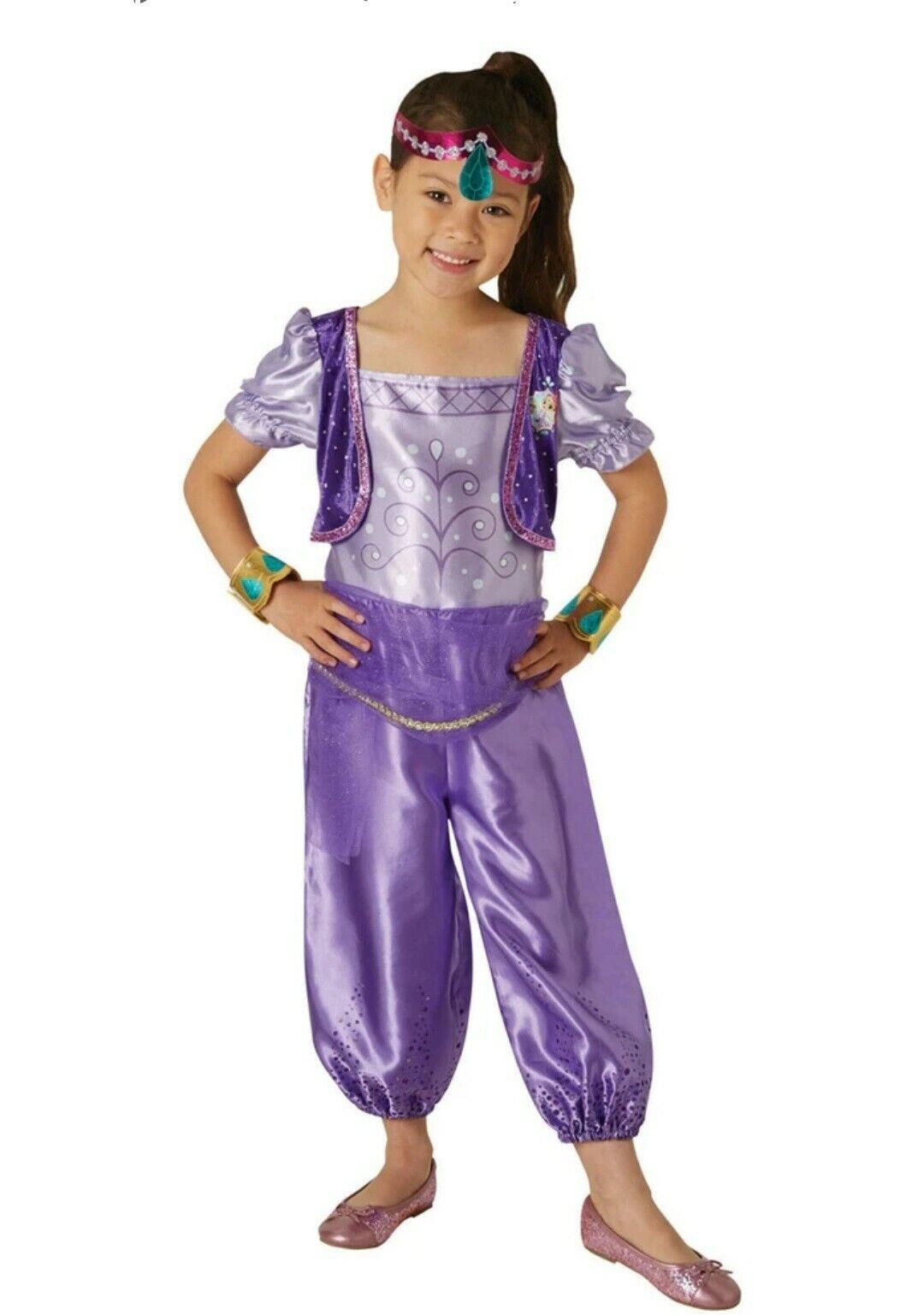 RUBIES GIRLS SHIMMER & SHINE PURPLE SHIMMER FANCY DRESS COSTUME AGE 5-6 MEDIUM