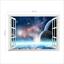 3D-Weltraum-Weltall-Fenster-Wandsticker-Wandtattoo-Wandaufkleber-Aufkleber Indexbild 2