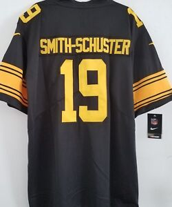 best sneakers 257fb 03b0f Details about JUJU SMITH SCHUSTER Pittsburgh Steelers #19 Color Rush jersey  NEW! DMR PATCH! XL