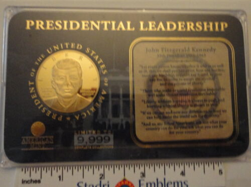 John F Kennedy Presidential Leadership Medal in case American Mint Ed Lt