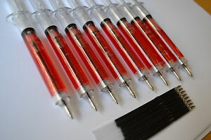 8-NOVELTY-SYRINGE-PENS-BLOOD-OR-MIXED-Great-Value-Halloween-Nurses-Party-Bags