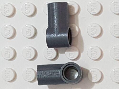 LEGO-TECHNIC X 2 DARK GREY Technic Axle and Pin Connector Angled #1
