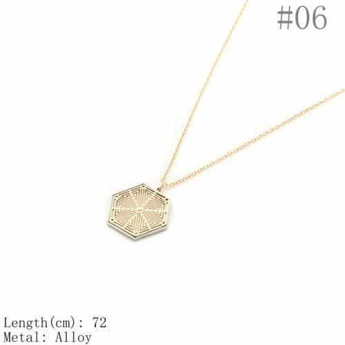 Fashion Geometric Wood Compass Coin Cos Hip Hop Baroque Punk Necklace