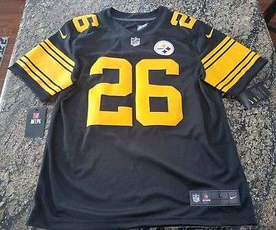 1b5d5e0b8 NFL PITTSBURGH STEELERS COLOR RUSH STITCHED JERSEY 819066-011 Le Veon Bell  ...