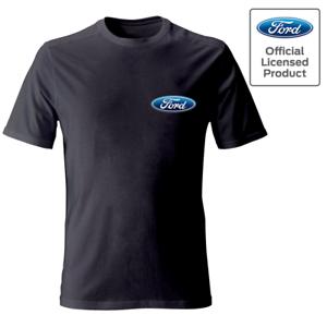Officiel-Ford-Motor-Company-logo-sur-la-poche-tee-shirt-Homme