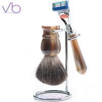 Razor Md - Fx99 Horn Shave Set For Men 5 Blade Razor Gillette Badger Shave Brush