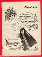 Pubblicità Advertising CRESSI-SUB 1974 Pinne Rondine (1)