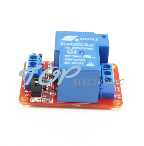 30A 12V 1-Channel Relay Module Board With Optocoupler H//L Level Triger