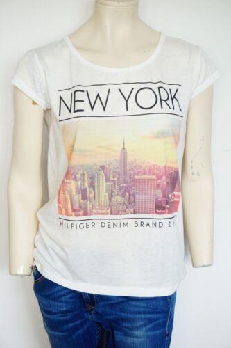 Hilfiger Denim Rada SN Thé S//S T-shirts Off White Tommy Hilfiger Femmes T-shirts