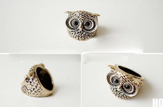 HO AU Hot Vintage Retro Style Silver Bronze Owl Shape Rings NEW