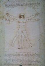 LEONARDO DA VINCI POSTER A3 PROPORTIONS OF HUMAN FIGURE 1492 National Gallery