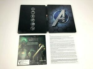 Marvel-039-s-Avengers-Earth-Mightiest-Steelbook-PS4-Edition-ONLY-NO-GAME-IN-HAND