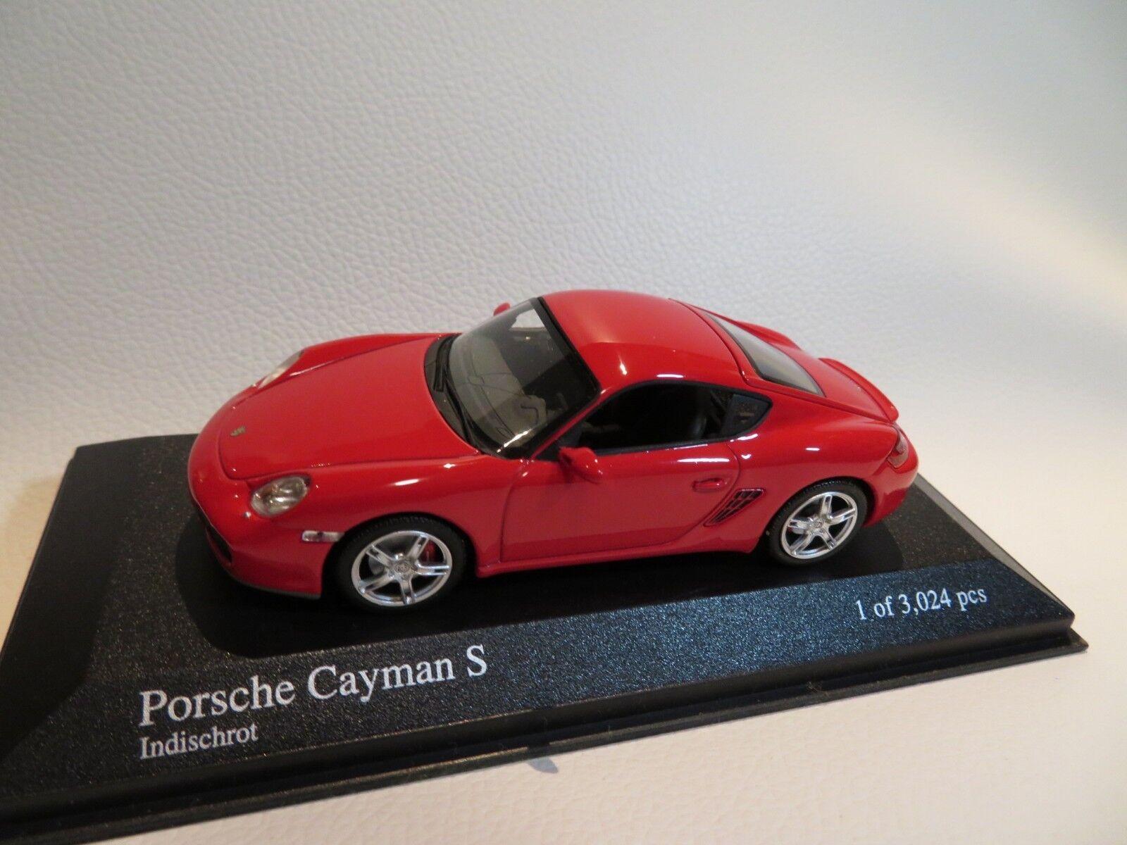 1 43 Minichamps Porsche Cayman S (2005) rosso DIECAST