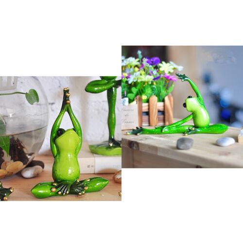 2x Yoga Frosch Kreative Harz 3D Frosch Figur Modell für Dekoration Hof