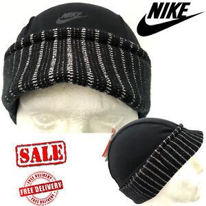 Nike Mens Air Football Sport Casual Urban Fashion Beanie Hats Black Caps UK Size