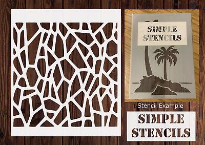 Giraffe Stencil 8x8 Sheet