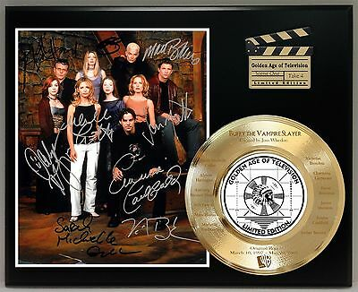 Buffy The Vampire Slayer Etched Cast Member Names 24k Gold Record USA Ships Free