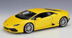 Welly-1-24-Lamborghini-Huracan-LP610-4-Diecast-Model-Racing-Car-Toy-Yellow-Boxed