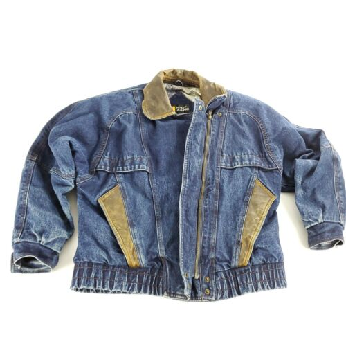 Denim Jacket Vintage Blue Retro Andy Johns Leather