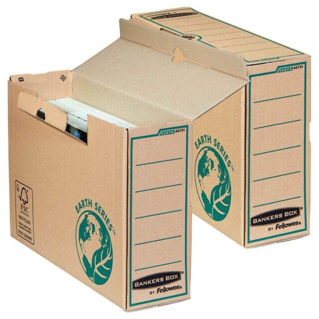 20 Stück Fellowes Archivboxen Bankers Box - Breite 10 cm Earth Series A4+