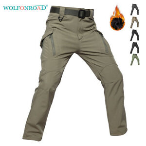 Mens-Softshell-Tactical-Pants-Fleece-Lining-IX9-Cargo-Combat-Military-Trousers
