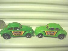 LESNEY MATCHBOX 1972 MB43 LT GREEN DRAGON WHEELS VW w SMALL FRONT WHLS MINT BXD*