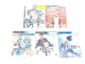 Lot-of-5-Playstation-3-PS3-Sports-Games-Madden-FIFA-NBA2K-MLB-Football