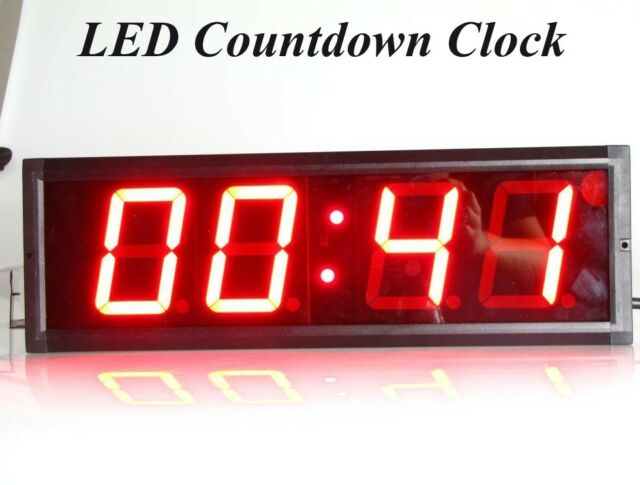 4'' Large Digital MM:SS Countdown Stopwatch Sport LED Countdown Wall Clock Timer